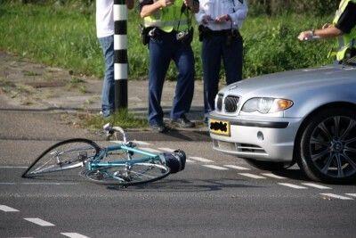 aangereden op de fiets