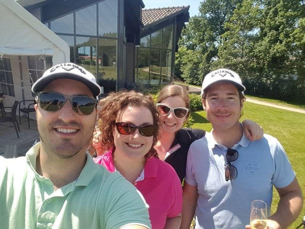 Team van JBL&G bij Voogd en Voogd golftoernooi